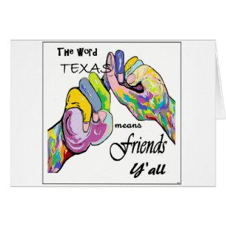ASL Texas Means Friend Card