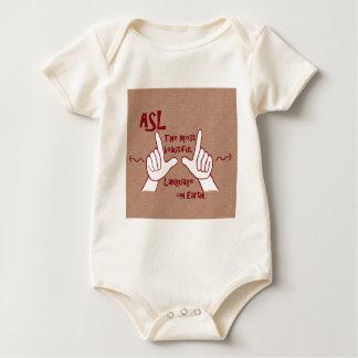ASL The Most Beautiful Language Baby Bodysuit