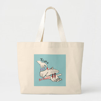 ASL Time for School Large Tote Bag