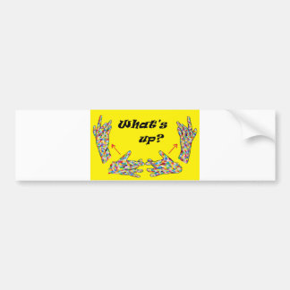 ASL What's UP? Bumper Sticker