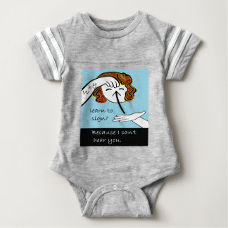 ASL Why Learn to Sign Baby Bodysuit