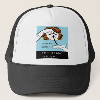 ASL Why Learn to Sign Trucker Hat