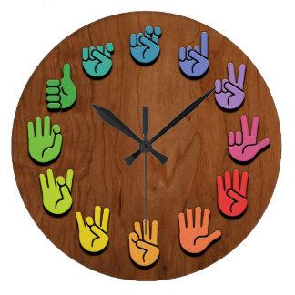 ASL Woodgrain Large Clock