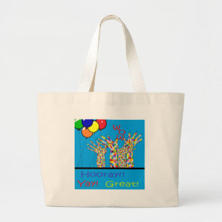 ASL Yay Large Tote Bag