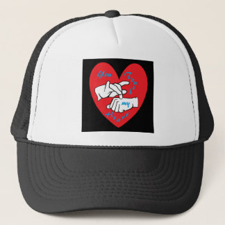 ASL You Touch my Heart Trucker Hat