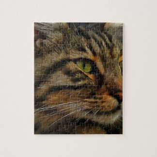 Aslan The Long Haired Tabby Cat Jigsaw Puzzle