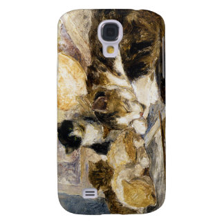 """Asleep in the Artists Studio"" by Henriette Ronner Galaxy S4 Cover"