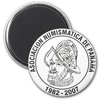 Asociación Numismática De Panamá imán 6 Cm Round Magnet