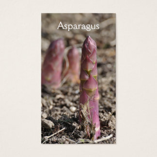 Asparagus business card
