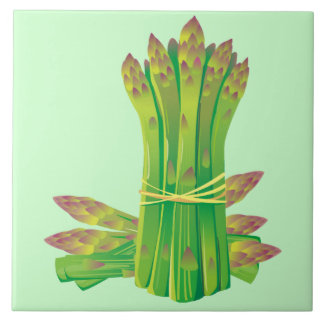 Asparagus Decorative Kitchen Tile