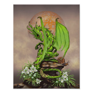 Asparagus Dragon 11x14 (4x6 and up) Poster