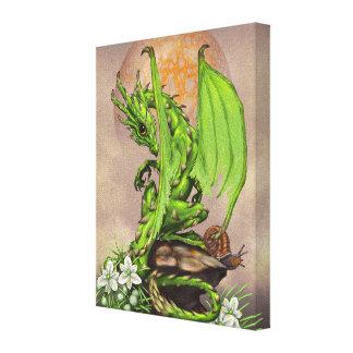 Asparagus Dragon 8x10 Canvas Print