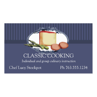 Asparagus eggs cheese cooking culinary business... pack of standard business cards