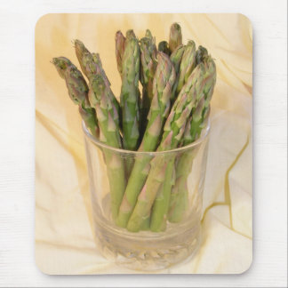 Asparagus tips in glass mouse pad