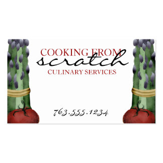 asparagus tomato vegetable chef cooking biz cards pack of standard business cards