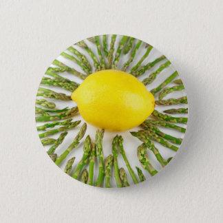 Asparagus towards Lemon 6 Cm Round Badge