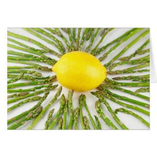 Asparagus towards Lemon Card