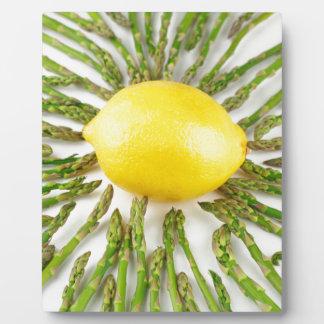 Asparagus towards Lemon Plaque