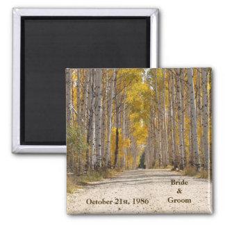 Aspen Alley In Autumn Wedding Magnet
