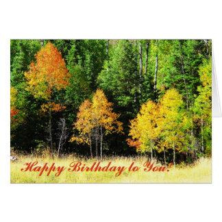 Aspen Birthday Card