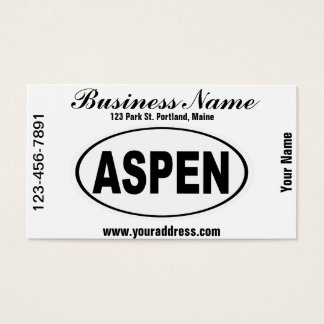 Aspen Colorado Business Card