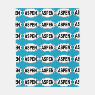 Aspen Colorado Fleece Blanket