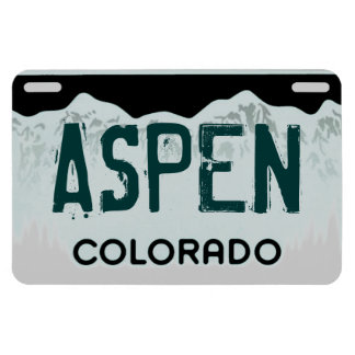 Aspen Colorado green license plate magnet