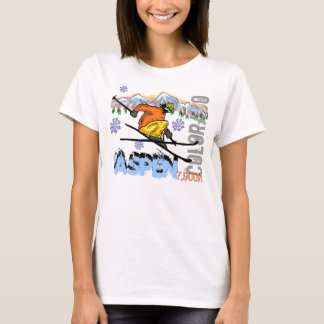 Aspen Colorado ski elevation tee