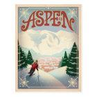 Aspen, Colorado   Ski Slopes Postcard