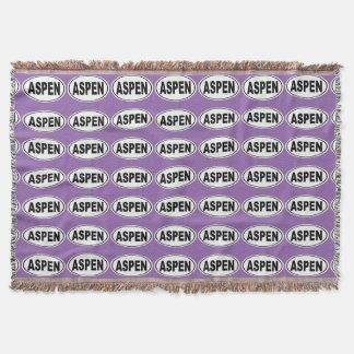 Aspen Colorado Throw Blanket
