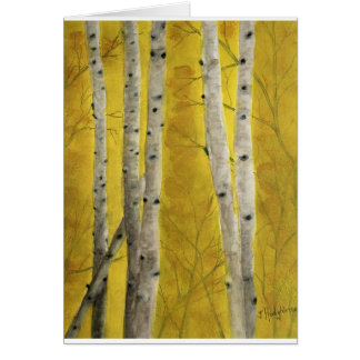 ASPEN FOREST WATERCOLOR CARD