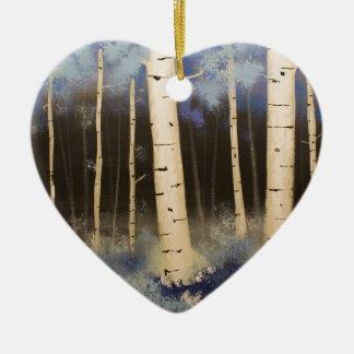 Aspen Grove Ceramic Ornament