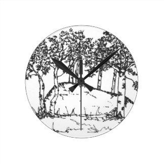 Aspen Grove Round Clock