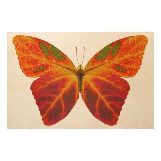Aspen Leaf Butterfly 2 Wood Wall Art