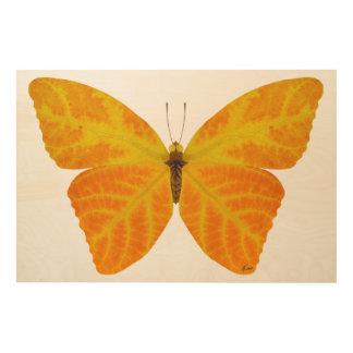 Aspen Leaf Butterfly 3 Wood Wall Art