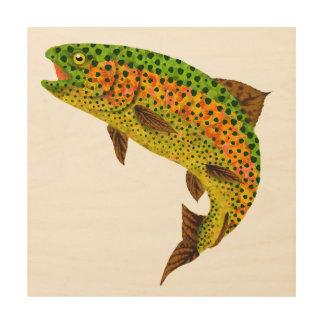 Aspen Leaf Rainbow Trout 1 Wood Wall Decor