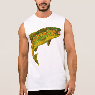 Aspen Leaf Rainbow Trout 3 Sleeveless Shirt