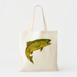 Aspen Leaf Rainbow Trout 3 Tote Bag