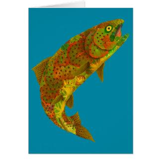 Aspen Leaf Rainbow Trout 6 Card