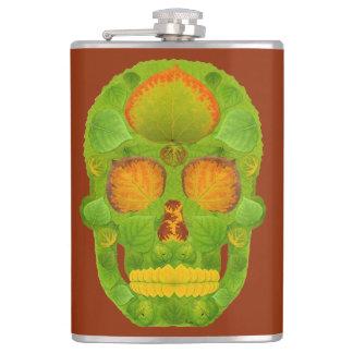Aspen Leaf Skull 10 Flasks