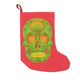 Aspen Leaf Skull 10 Small Christmas Stocking