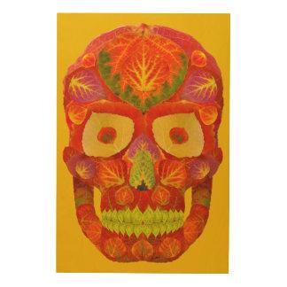 Aspen Leaf Skull 16 Wood Wall Decor