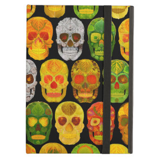 Aspen Leaf Skulls seamless pattern 2018 Cover For iPad Air
