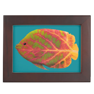 Aspen Leaf Tropical Fish 1 Keepsake Box