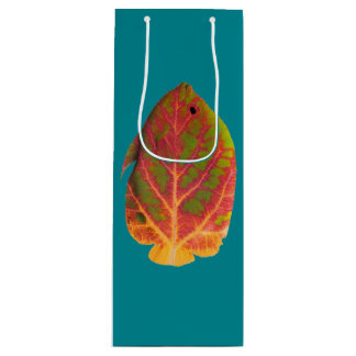 Aspen Leaf Tropical Fish 1 Wine Gift Bag