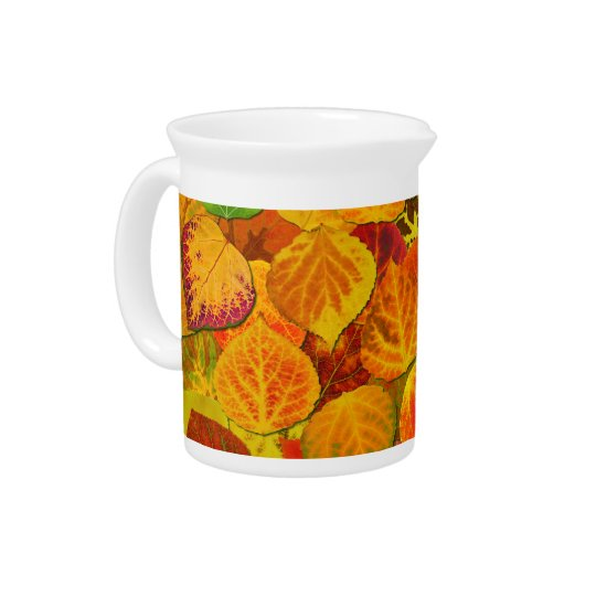 Aspen Leaves Collage Solid Medley 1 Pitcher
