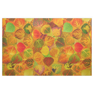 Aspen Leaves collage solid medley seamless 1 Fabric