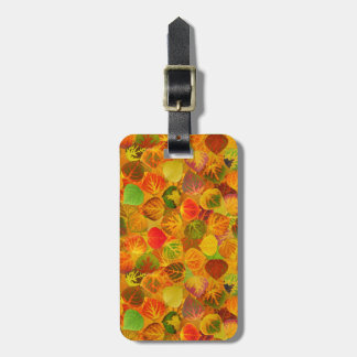 Aspen Leaves Collage Solid Medley Seamless 1 Luggage Tag