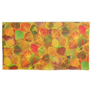 Aspen Leaves collage solid medley seamless 1 Pillowcase