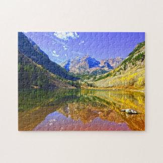 Aspen Maroon Bells Colorado . Jigsaw Puzzle